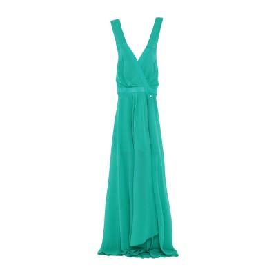 MARY D'ALOIA® ロングワンピース&ドレス グリーン 46 ポリエステル 89% / ポリウレタン 11% ロングワンピース&ドレス