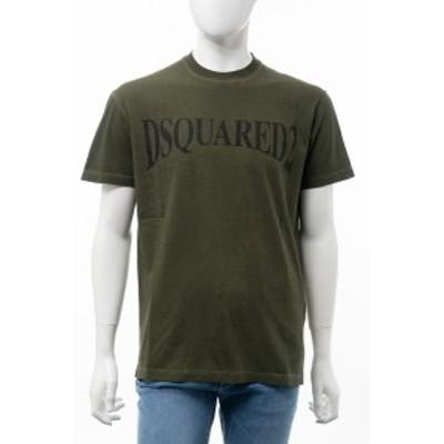 ディースクエアード DSQUARED2 Tシャツ 半袖 丸首 クルーネック カーキ メンズ (S74GD0582S21600)