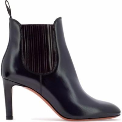 サントーニ Santoni レディース ブーツ ショートブーツ シューズ・靴 Leather Ankle Boot With Elastic Bands Blue