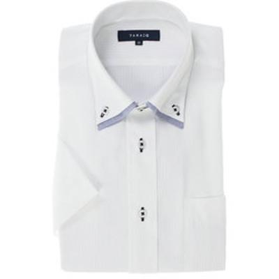 形態安定レギュラーフィット2枚衿ドゥエボットーニボタンダウン半袖ビジネスドレスシャツ