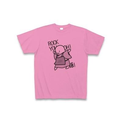 ろっきゅー(黒) Tシャツ(ピンク)