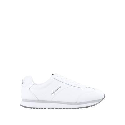 YOOX - CALVIN KLEIN JEANS スニーカー&テニスシューズ(ローカット) ホワイト 40 革 89% / ポリウレタン 11%