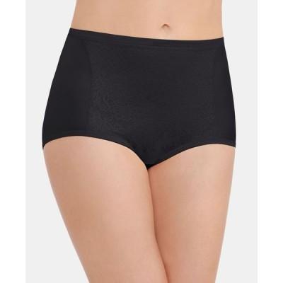 バニティフェア レディース パンツ アンダーウェア Smoothing Comfort with Lace Brief Underwear 13262 also available in extended sizes