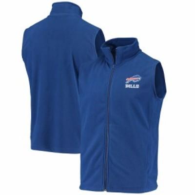 """メンズ ベスト """"Buffalo Bills"""" Houston Fleece Full-Zip Vest - Royal"""