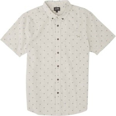 ビラボン メンズ シャツ トップス Billabong Men's All Day Jacquard Button Down Short Sleeve Top Chino