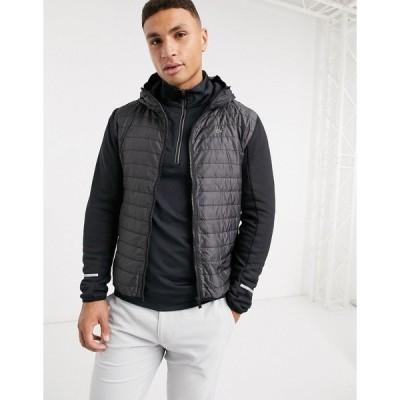 カルバンクラインゴルフ メンズ ジャケット&ブルゾン アウター Calvin Klein Golf hooded Insulite jacket in black Black
