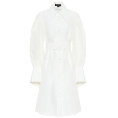 エラリー Ellery レディース ワンピース シャツワンピース ワンピース・ドレス Antigua linen-blend shirt dress White