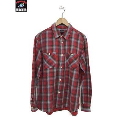 schott バック刺繍チェックシャツ sizeL