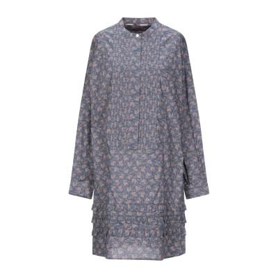 BURBERRY ミニワンピース&ドレス ブルーグレー 36 コットン 100% ミニワンピース&ドレス