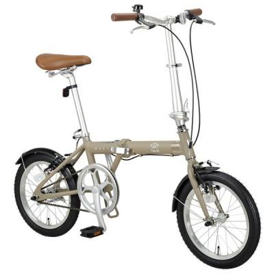 折りたたみ自転車 キャプテンスタッグ モンテ AL-FDB161 カーキ