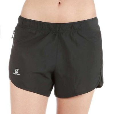 サロモン レディース ハーフパンツ・ショーツ ボトムス Salomon Women's Agile 4 Inch Short Black