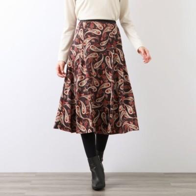 フローラルペイズリースカート