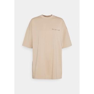 ヌー イン レディース Tシャツ トップス Print T-shirt - beige beige
