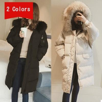キルティングコート レディース 中綿コート ロングコート フード付き ファー付き アウター 秋冬 シンプル 防寒 保温 アウター