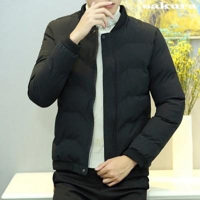 ダウンコートメンズショート丈ダウンジャケット無地中綿ジャケット大きいサイズ防寒防風高品質暖かいオフィス通勤2020秋冬新作