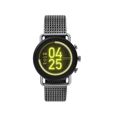 Skagen Touchscreen Smartwatch HR Falster 3 Gunmetal Gauge Mesh for Mens SKT5200 並行輸入品