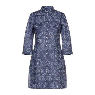 CAMICETTASNOB ミニワンピース&ドレス ブルー 42 コットン 100% ミニワンピース&ドレス