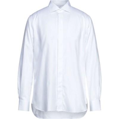 キャレル CARREL メンズ シャツ トップス Solid Color Shirt White