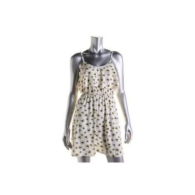 ドレス 女性  アメリカンラグ American Rag 8587 レディース Jersey フローラル プリント Ruffled Sunドレス