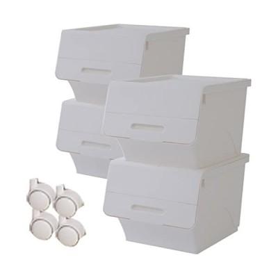 山善-YAMAZEN-オープンボックス-フタ付き収納ボックス-キャスター付き