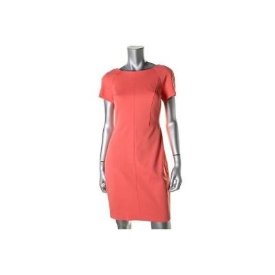 ドレス 女性  海外セレクション Cynthia Steffe 9343 レディース オレンジ 半袖s Sheath Wear to Work ドレス 4