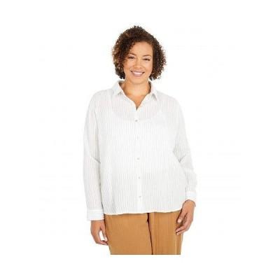 Eileen Fisher アイリーンフィッシャー レディース 女性用 ファッション ボタンシャツ Plus Size Classic Collar Shirt - White