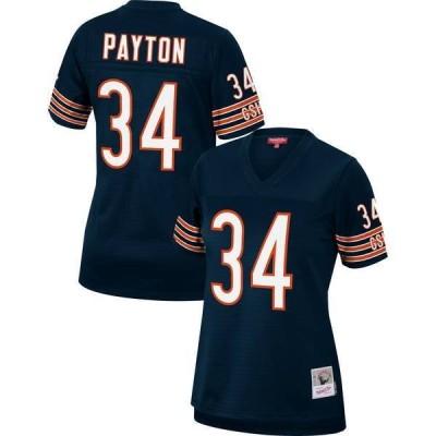ミッチェル&ネス レディース シャツ トップス Mitchell & Ness Women's Chicago Bears Walter Payton #34 Navy 1985 Home Jersey