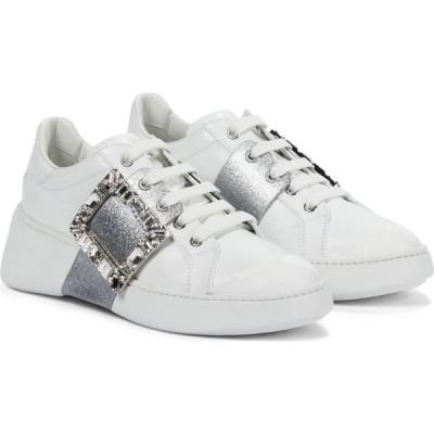 ロジェ ヴィヴィエ Roger Vivier レディース スニーカー シューズ・靴 viv' skate leather sneakers Bianco