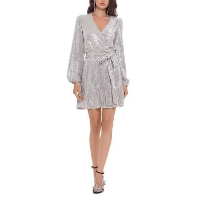 ベッツィ アンド アダム ワンピース トップス レディース Sequinned Fit & Flare Dress Blush/Silver
