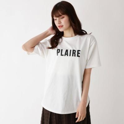 ピンクアドベ pink adobe 【M-LL】アソートロゴプリントTシャツ (オフホワイト)