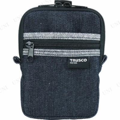 【取寄品】 TRUSCO デニムコンパクトケース 2ポケット ブラック ツールボックス 収納 ツールバッグ ツールホルダ・バッグ