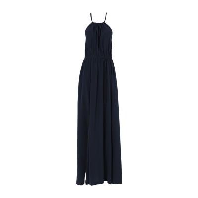 セミクチュール SEMICOUTURE ロングワンピース&ドレス ダークブルー 40 シルク 100% / ポリエステル ロングワンピース&ドレス