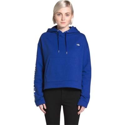 ザ ノースフェイス The North Face レディース パーカー トップス Logo Crop French Terry Pullover Hoodie TNF Blue