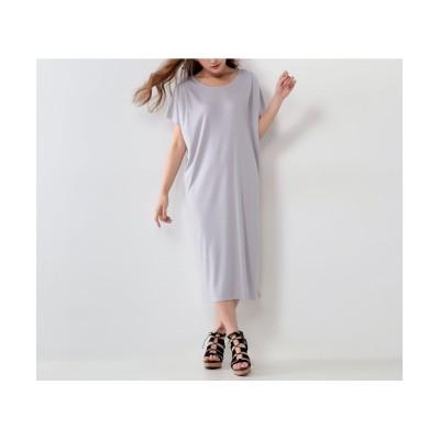 【大きいサイズ】 タックコクーンカットソーワンピース ワンピース, plus size dress