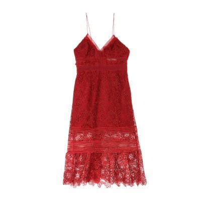 SELF-PORTRAIT 7分丈ワンピース・ドレス レッド 10 ポリエステル 100% 7分丈ワンピース・ドレス