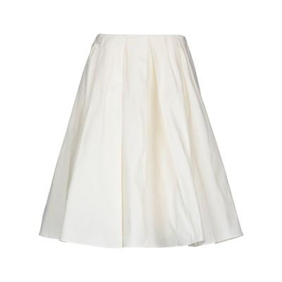 JIL SANDER NAVY 7分丈スカート ホワイト 42 コットン 100% 7分丈スカート