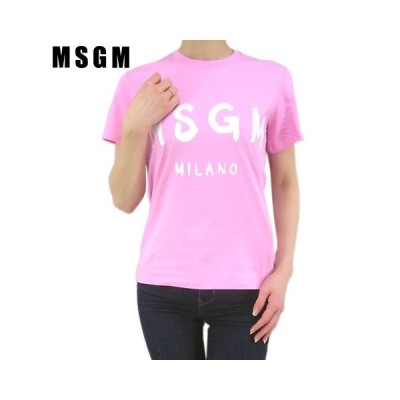 エムエスジーエム/MSGM レディース Tシャツ 2841MDM60 207298/ピンク/12/セール