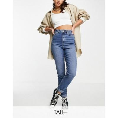 ニュールック レディース デニムパンツ ボトムス New Look Tall mom jeans in mid blue