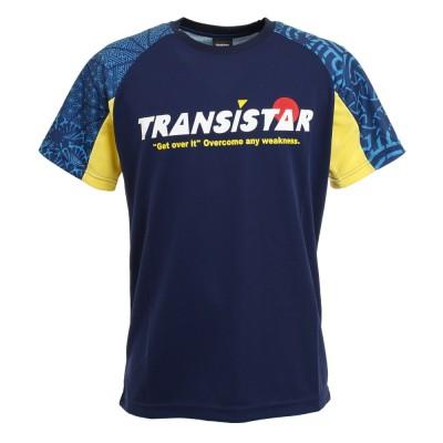 TRANSISTARハンドボール クリプトグラフ ゲームシャツ HB20ST03-47ネイビー×イエロー