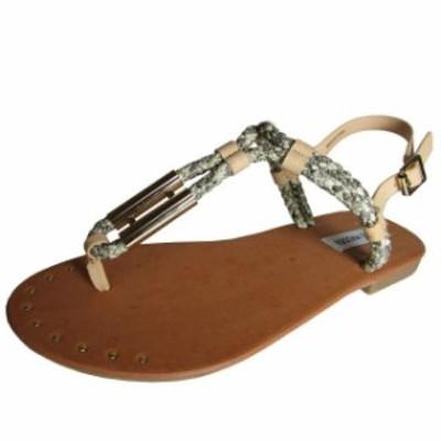Madden メデン ファッション サンダル Steve Madden Womens Braidie Thong Beach Sandal Shoe