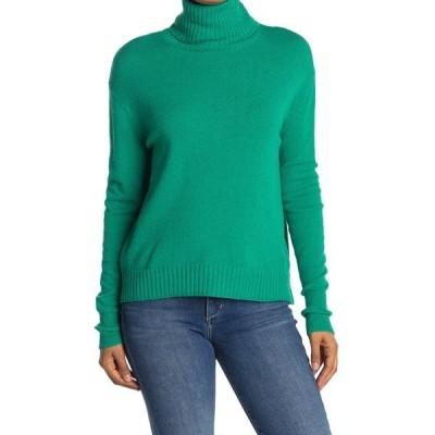 アボンド レディース ニット&セーター アウター Solid Turtleneck Dolman Sweater GREEN VIRIDIS