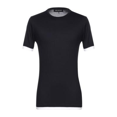 ニール・バレット NEIL BARRETT T シャツ ダークブルー XS レーヨン 100% T シャツ