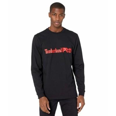 ティンバーランド シャツ トップス メンズ Base Plate Long Sleeve Graphic T-Shirt Black/Red