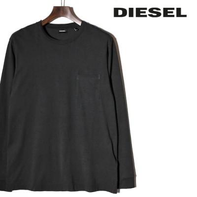 ディーゼル DIESEL 長袖Tシャツ カットソー メンズ バックタイダイ染めプリント クルーネック ロングスリーブ ロンT T-AVON