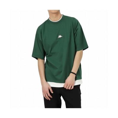 【マックハウス】 KAPPA カッパ フェイクレイヤードクルーネックTシャツ F58291DM メンズ グリーン XL MAC HOUSE