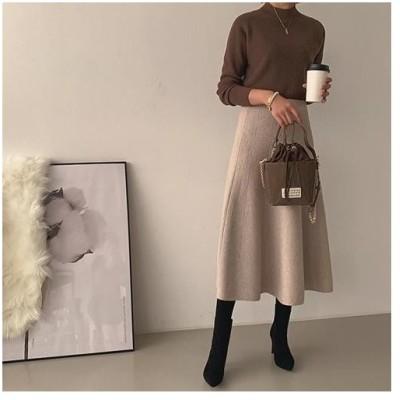 『当店の祭り』 ウエストゴム 無地 プリーツ スカート 大きいサイズ ルーズ 13号 ひざ丈 スカーチヨ 30代 40代 50代 ファッション