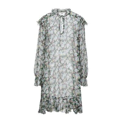 MAJE ミニワンピース&ドレス グリーン 1 シルク 97% / 金属化ポリエステル 3% ミニワンピース&ドレス