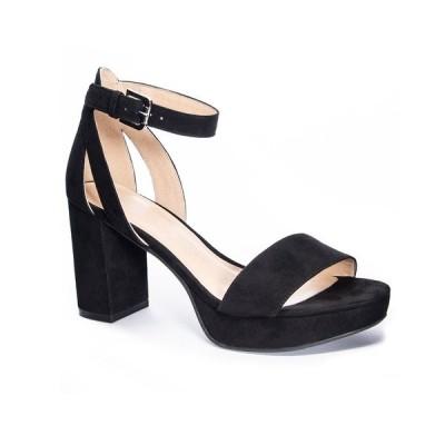 チャイニーズランドリー サンダル シューズ レディース Gilmore Platform Dress Sandals Black/Gold-Tone