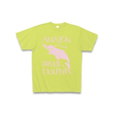 Amazon river dolphin Tシャツ Pure Color Print(ライトグリーン)