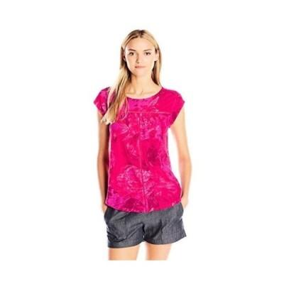 トップス ブラウス ラッキーブランド Lucky ブランド レディース コレクション 7W62753 Boxy Shirttail Top. Fuchsia Multi